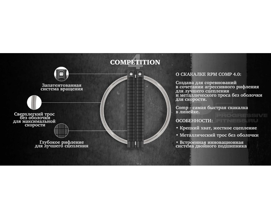 Скакалка RPM COMP 4.0 (Pewter)