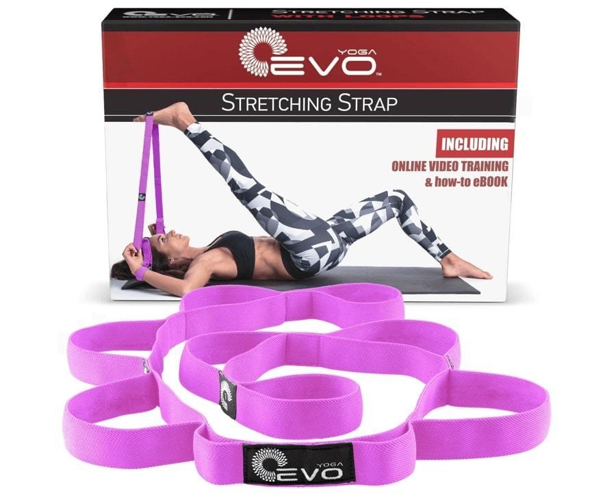 Ремень с петлями для растяжки Yoga EVO Elastic Stretching Strap